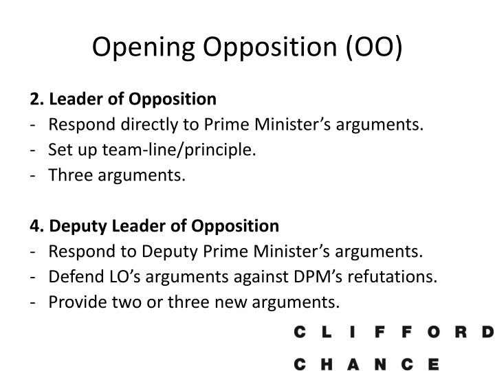 Opening Opposition (OO)