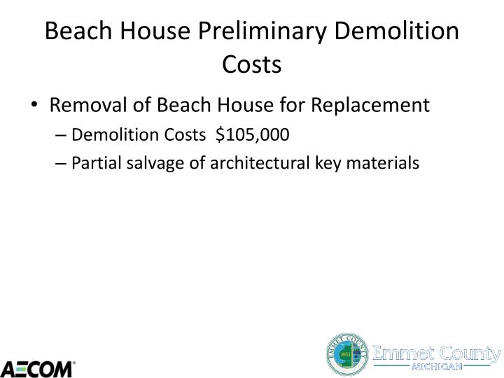 Beach House Preliminary Demolition Costs