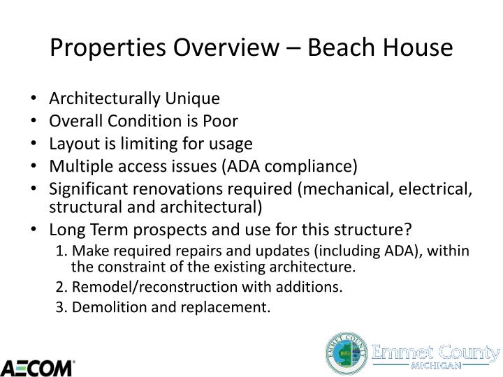 Properties Overview – Beach House