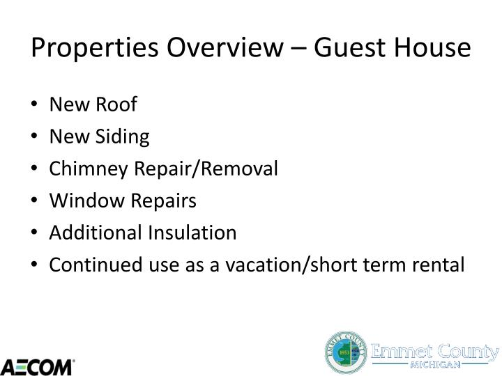 Properties Overview – Guest House