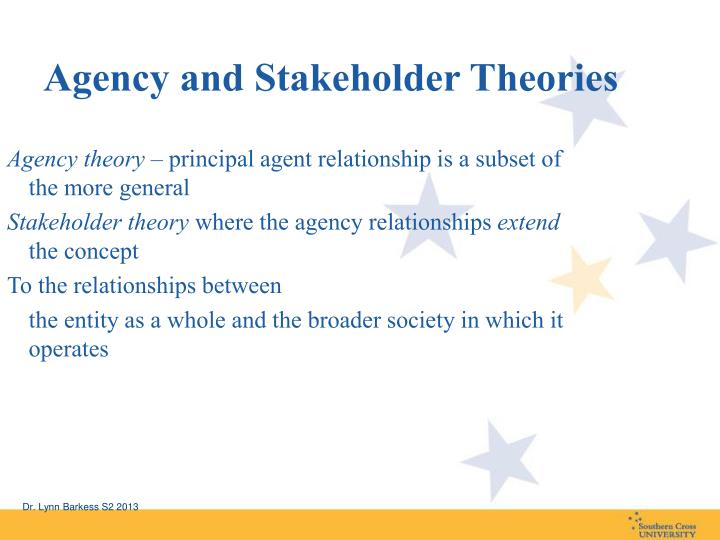 stakeholder agency theory