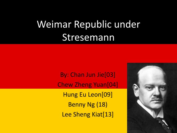 how far did gustav stresemann help germany recover