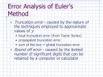 error analysis of euler s method