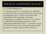 what is a historic mural