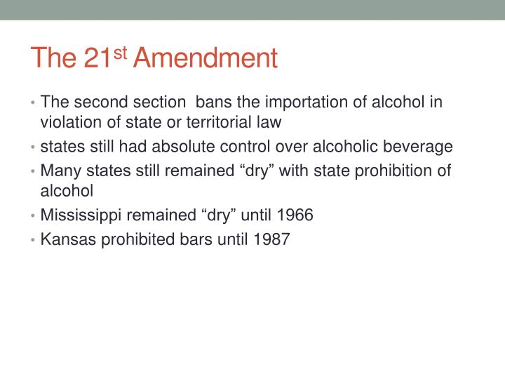Ppt The 18 Th And 21 St Amendments Powerpoint Presentation Id