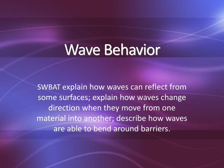 wave behavior n.