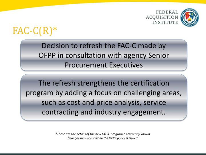 Ppt Fose 2014 Federal Acquisition Certification In Contracting