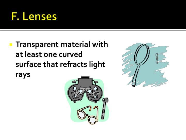 F. Lenses