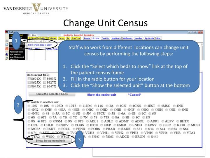 Change Unit Census
