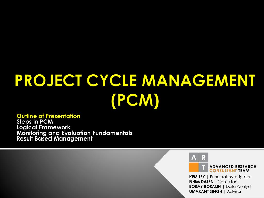 Ppt Project Cycle Management Pcm Powerpoint Presentation Id