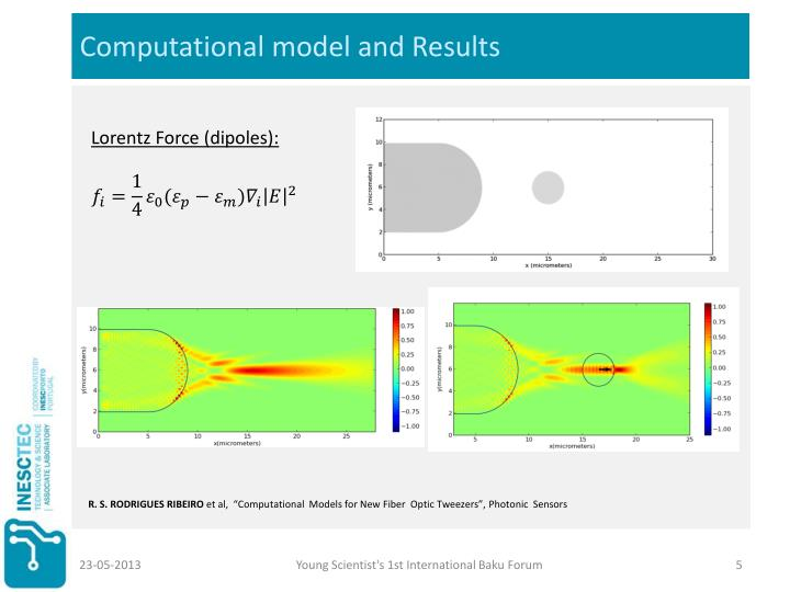 Computational model and Results