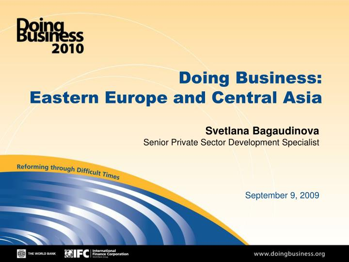 doing business eastern europe and central asia n.