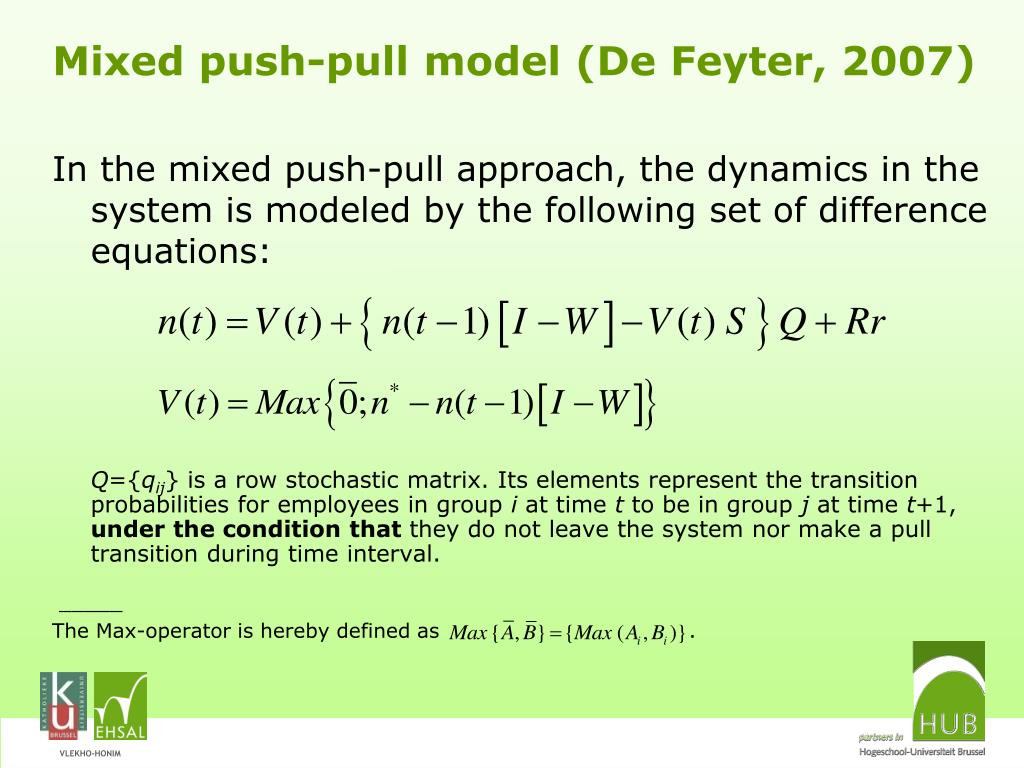 PPT - The limiting behavior of the mixed push-pull