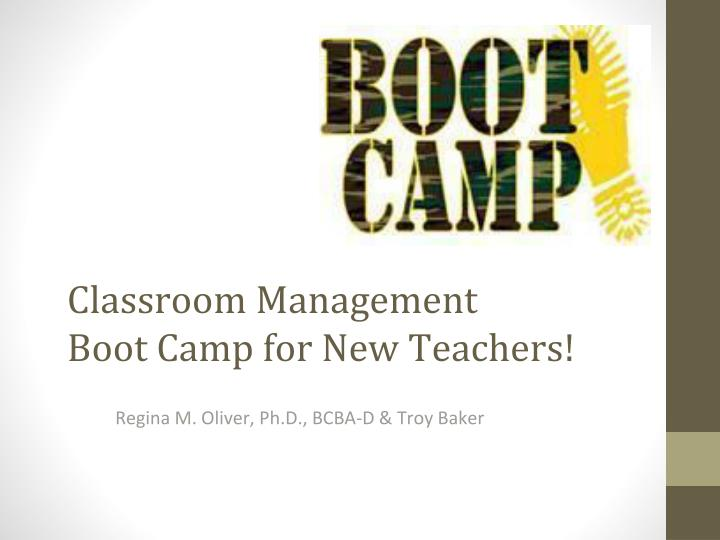 classroom management boot camp for new teachers n.
