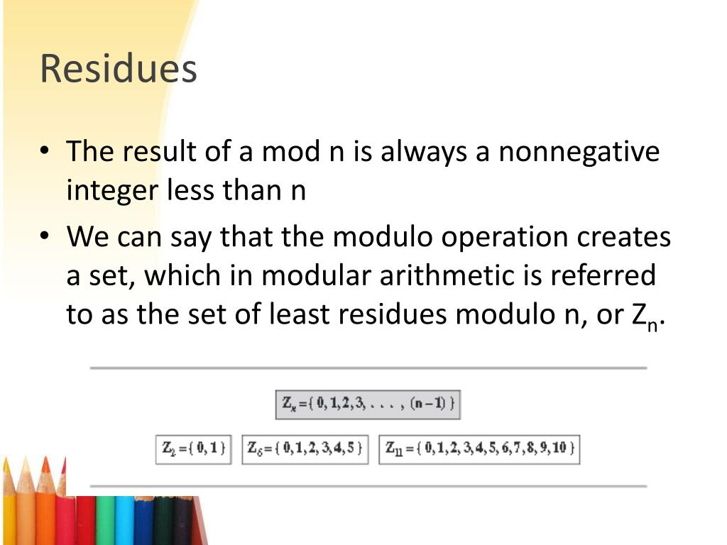 PPT - 6  Modular Arithmetic PowerPoint Presentation - ID:2558427