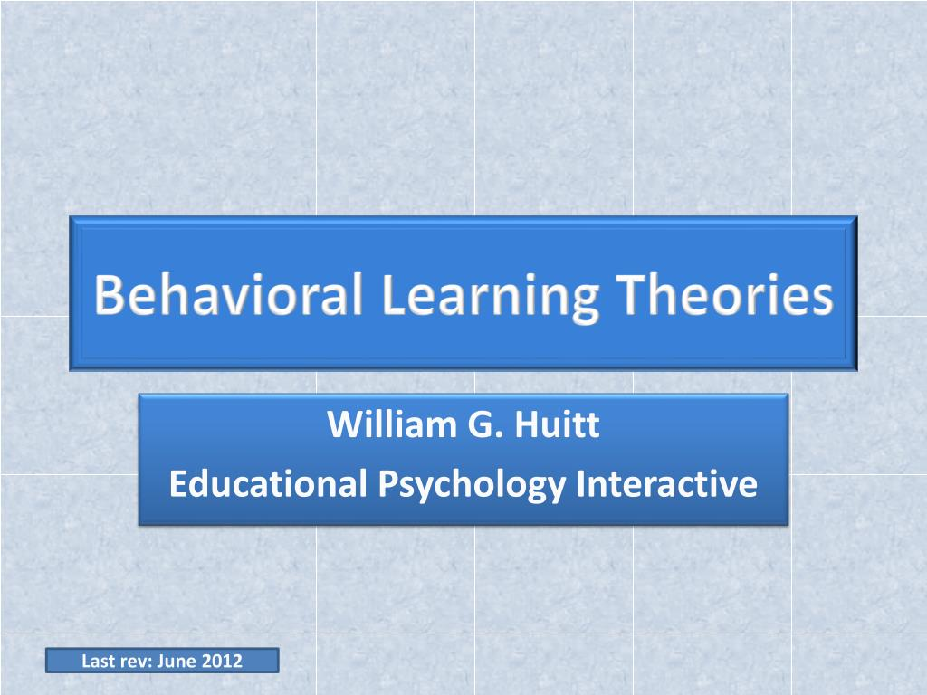 educational psychology theories