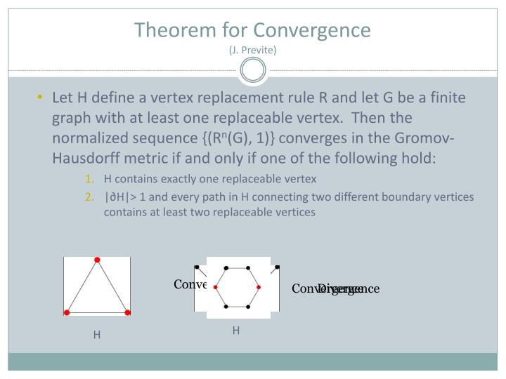 Theorem for Convergence
