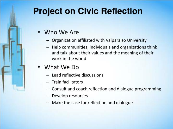 Project on civic reflection