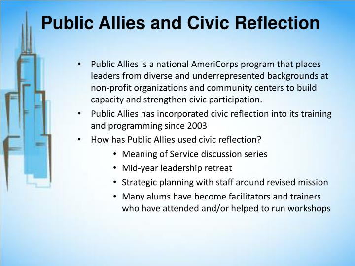 Public Allies and Civic Reflection