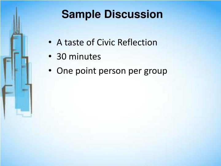 Sample Discussion