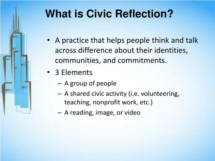 What is Civic Reflection?