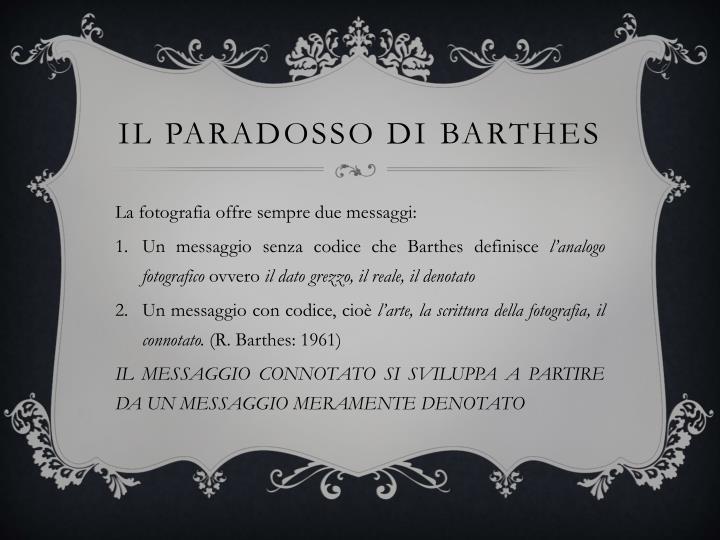 Il paradosso di