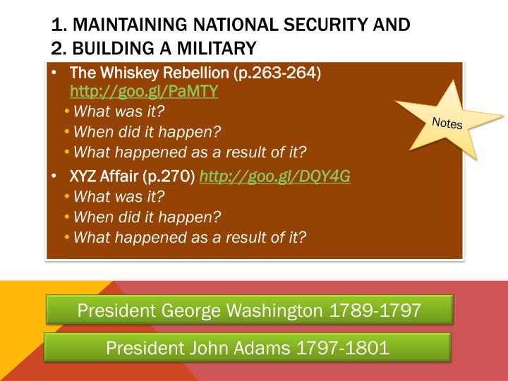 1. Maintaining National Security and