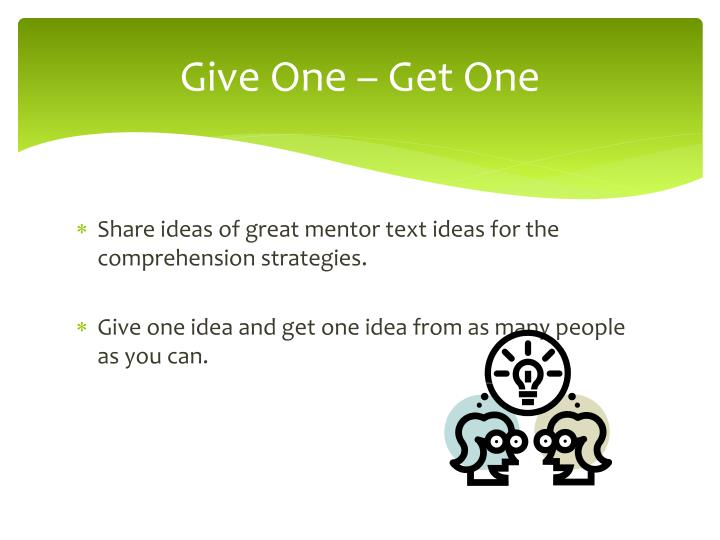 Give One – Get One