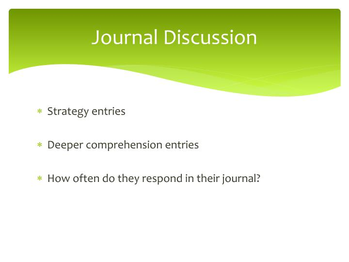 Journal Discussion