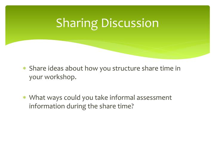 Sharing Discussion