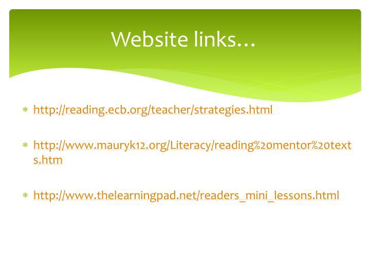 Website links…
