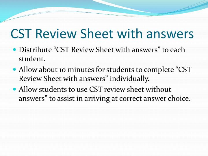 CST Review Sheet