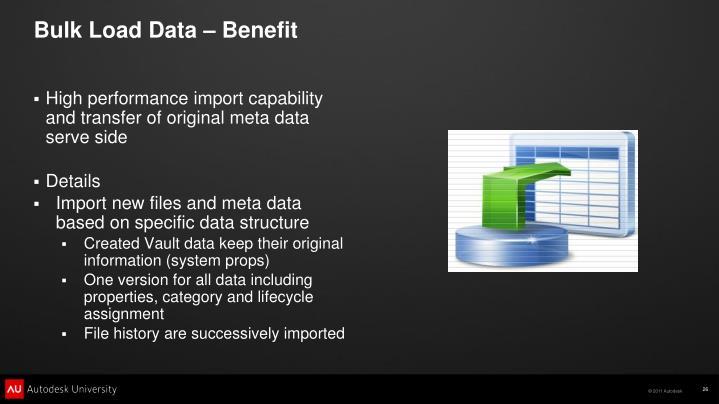 Bulk Load Data – Benefit