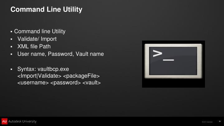 Command Line Utility