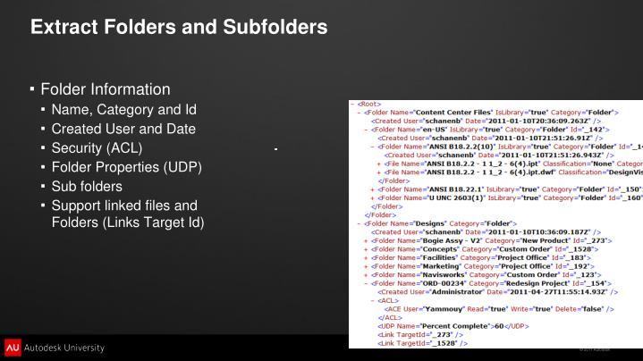 Extract Folders and Subfolders
