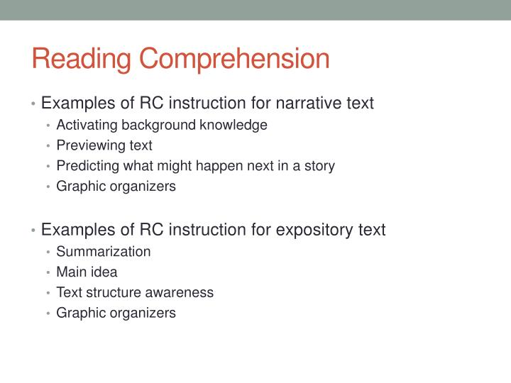 PPT Reading Prehension Instruction PowerPoint
