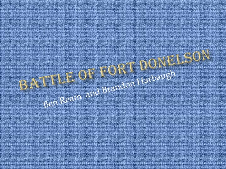 battle of fort donelson n.