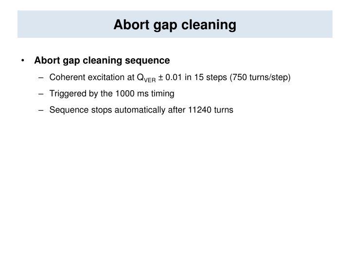 Abort gap cleaning