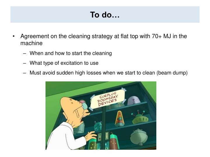 To do…