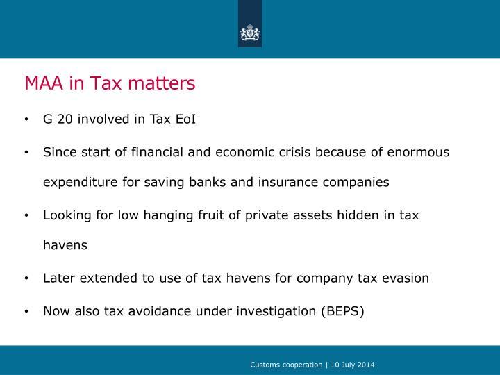 MAA in Tax