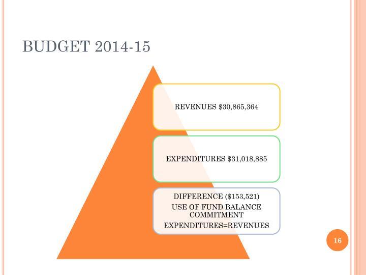 BUDGET 2014-15