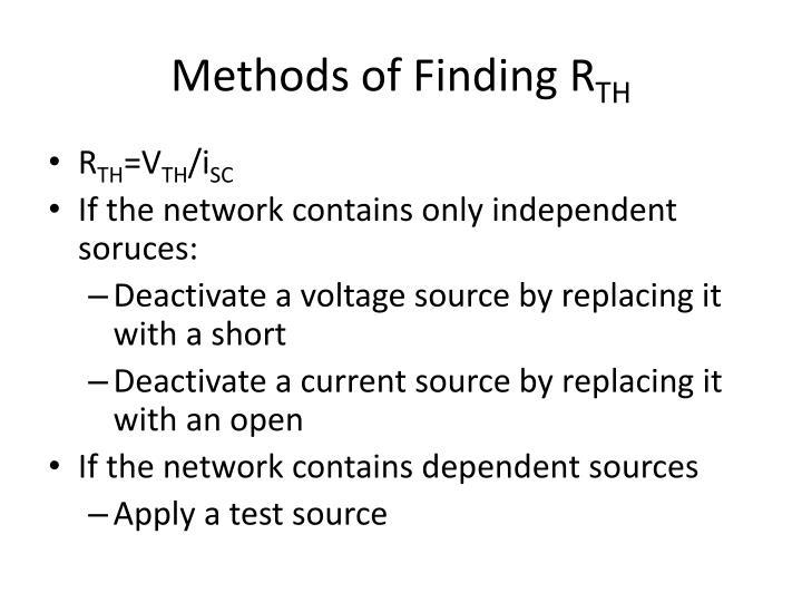 Methods of Finding R