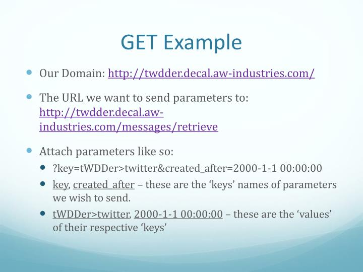 GET Example