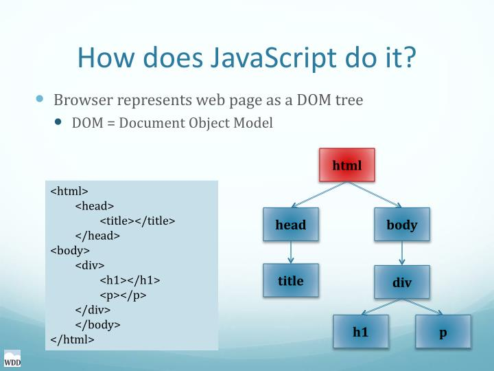 How does JavaScript do it?