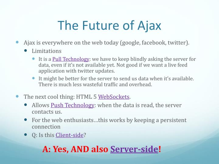 The Future of Ajax