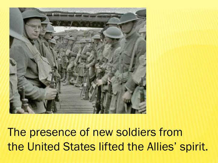 The presence of new soldiers from