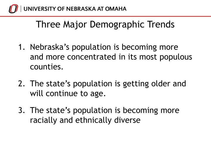 Three major demographic trends