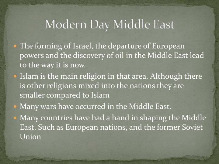 Modern Day Middle East