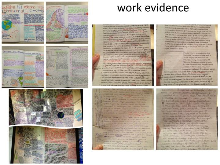 work evidence