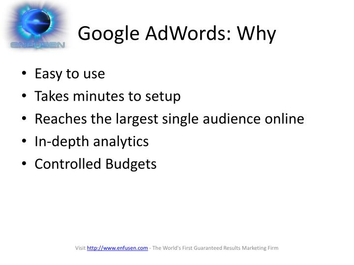Google AdWords: Why
